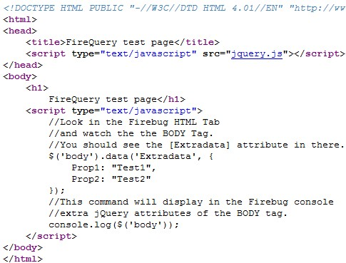 FireQuery test source code
