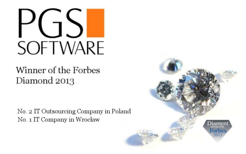 PGS Software Receives Forbes Diamond 2013