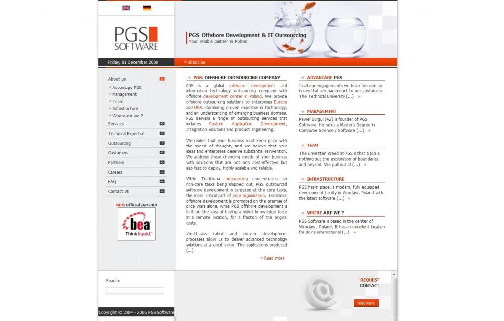 PGS homepage: 2006-2010