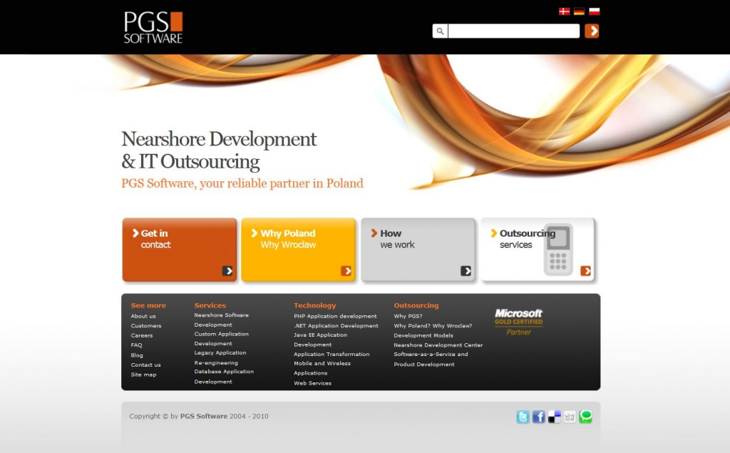 PGS homepage 2010-2013