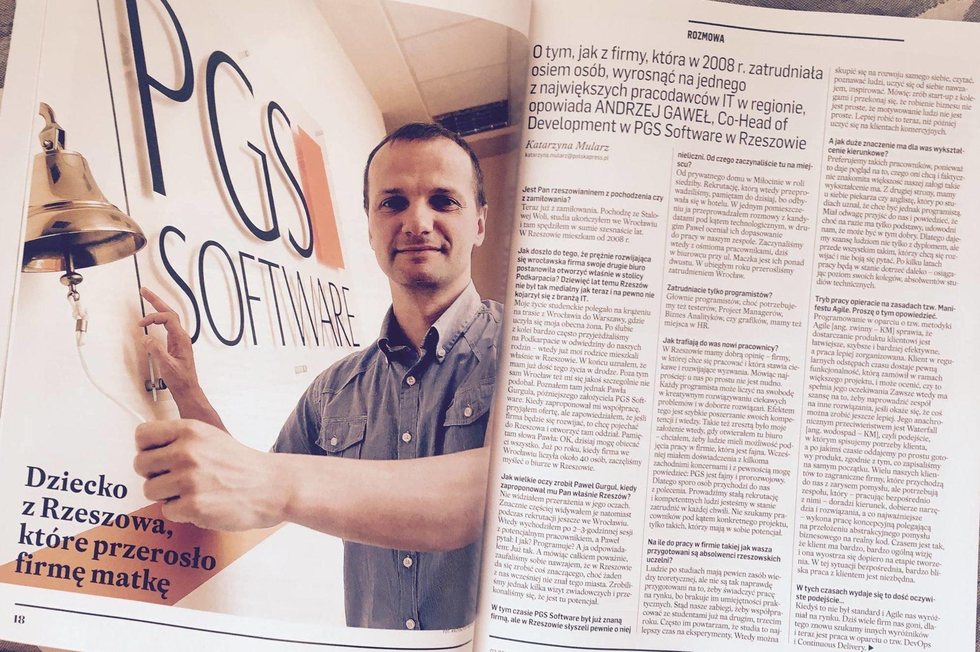 Wywiad z Andrzejem Gawłem w podkarpackiej Strefie Biznesu